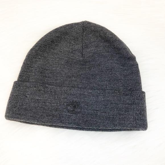 d76dda055 Timberland Men's Gray Beanie Winter Hat One Size